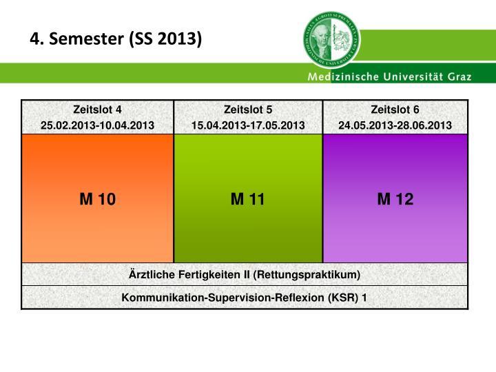 4. Semester (SS 2013)