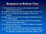 responses in reform class1