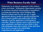 what business faculty said1