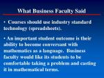 what business faculty said2