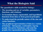 what the biologists said2