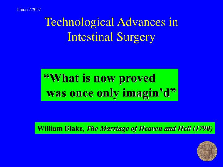 Technological advances in intestinal surgery