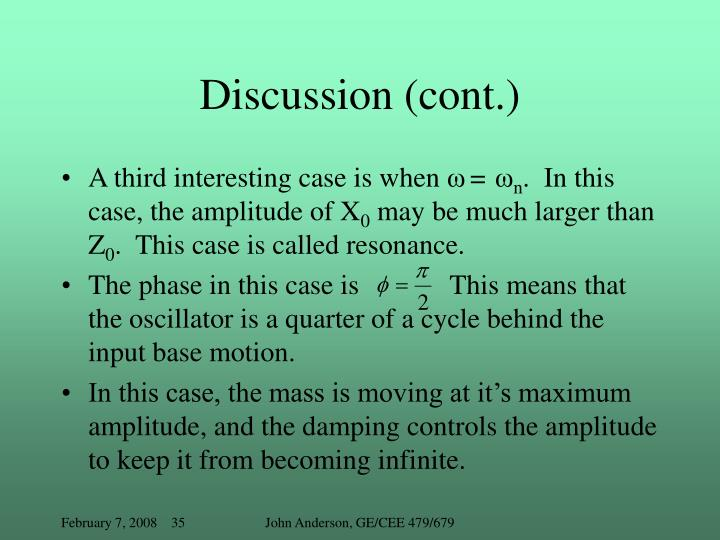 Discussion (cont.)