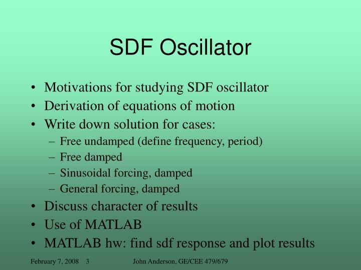 Sdf oscillator