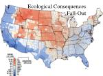 ecological consequences fall out