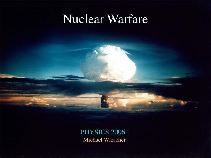 nuclear warfare n.