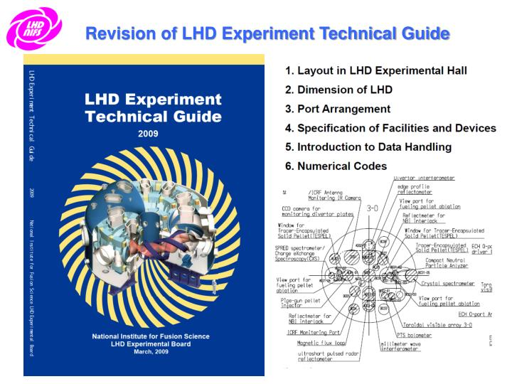 Revision of LHD Experiment Technical Guide