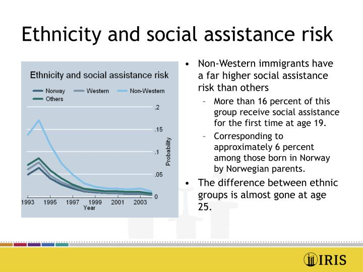 Ethnicity and social assistance risk