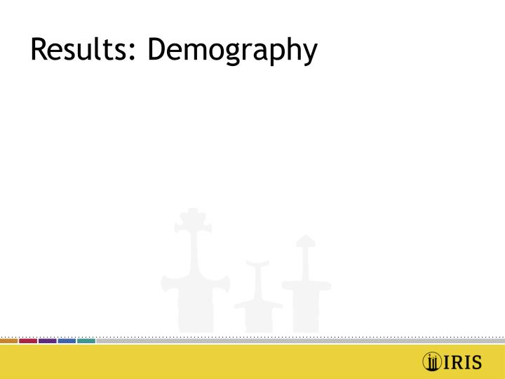 Results: Demography