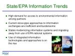 state epa information trends