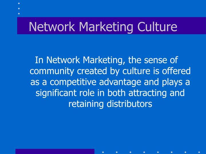 Network Marketing Culture