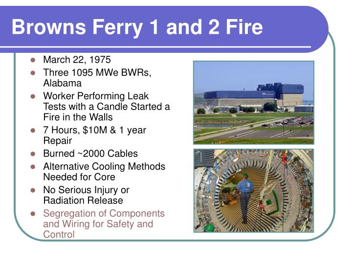 Browns Ferry 1 and 2 Fire