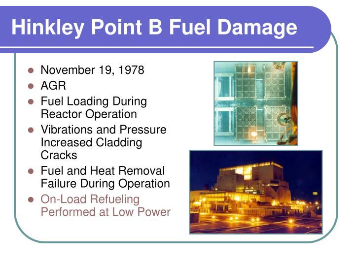 Hinkley Point B Fuel Damage