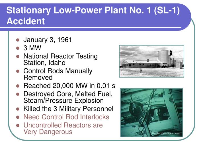Stationary low power plant no 1 sl 1 accident