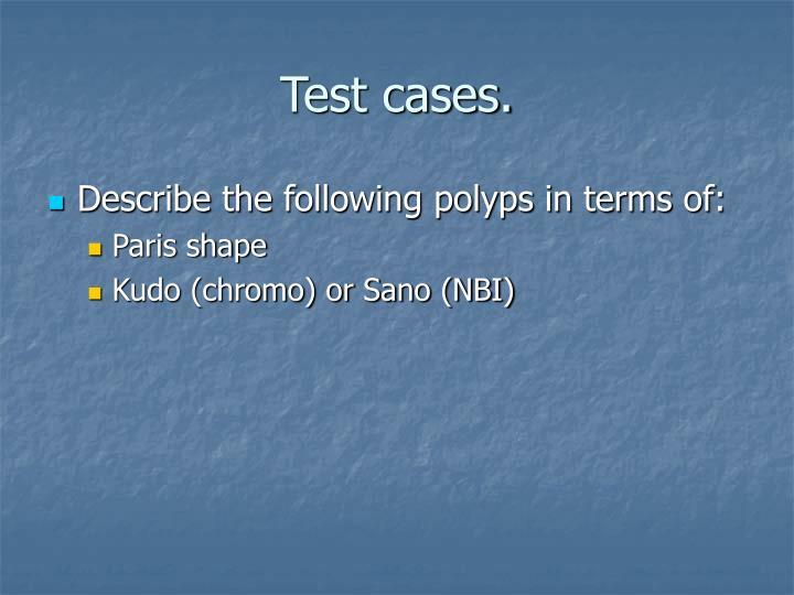 Test cases.