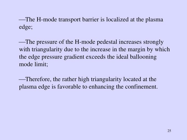 The H-mode transport barrier is localized at the plasma edge;