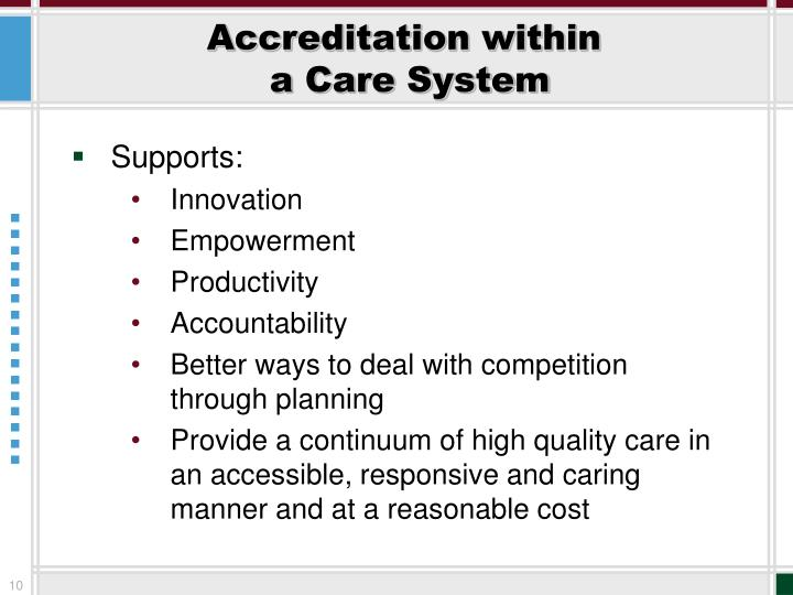 Accreditation within