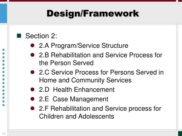 Design/Framework