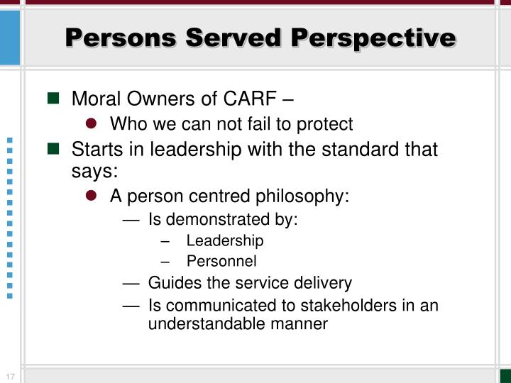 Persons Served Perspective