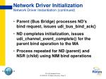 network driver initialization network driver instantiation continued1