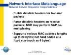 network interface metalanguage network service requestor responsibilities
