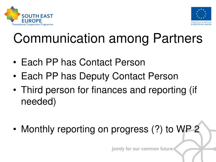 Each PP has Contact Person