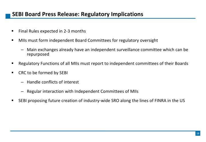 SEBI Board Press Release: Regulatory Implications