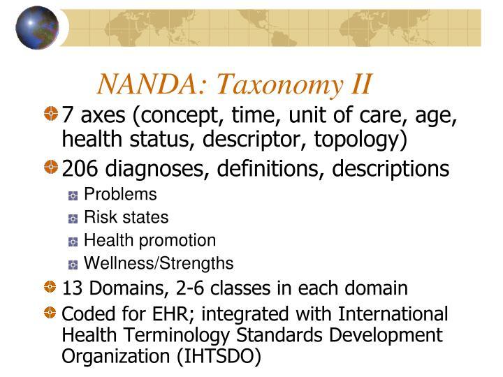 NANDA: Taxonomy II