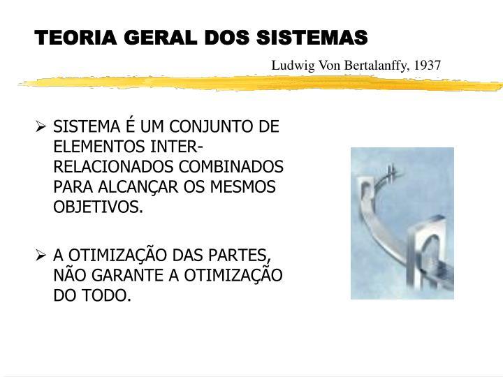 SISTEMA É UM CONJUNTO DE ELEMENTOS INTER-RELACIONADOS COMBINADOS PARA ALCANÇAR OS MESMOS OBJETIVOS.