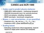 candu and acr 10001