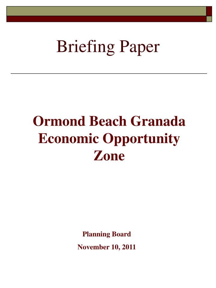 briefing paper n.