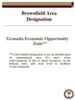 brownfield area designation