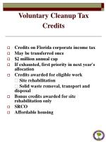 voluntary cleanup tax credits1