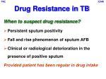 drug resistance in tb