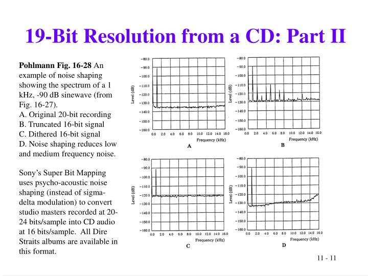 19-Bit Resolution from a CD: Part II