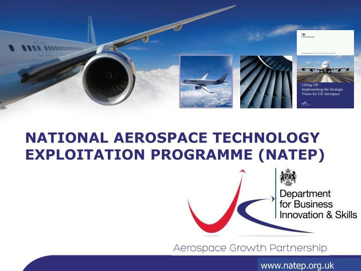 national aerospace technology exploitation programme natep n.