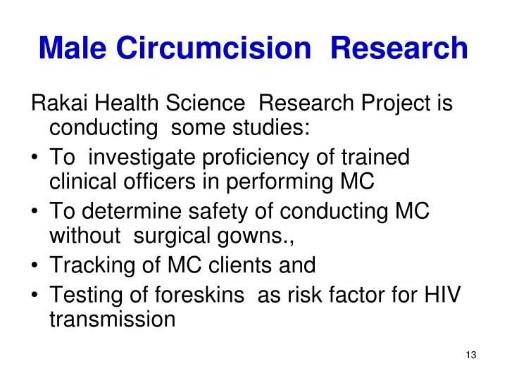 Male Circumcision  Research