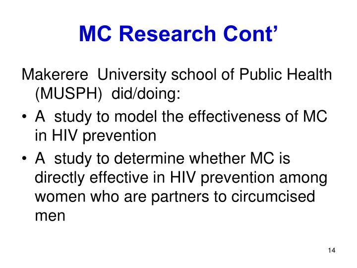 MC Research Cont'