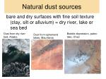 natural dust sources