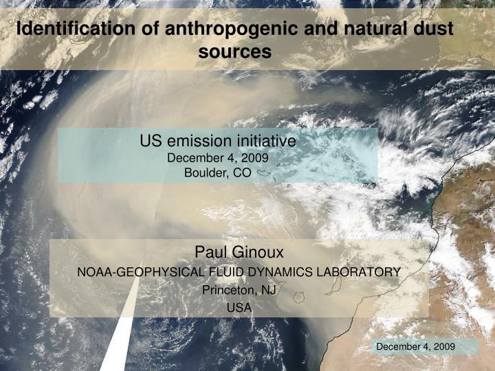 paul ginoux noaa geophysical fluid dynamics laboratory princeton nj usa n.