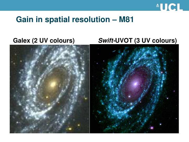 Gain in spatial resolution – M81
