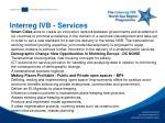 interreg ivb services