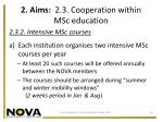 2 aims 2 3 cooperation within msc education1