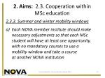 2 aims 2 3 cooperation within msc education2