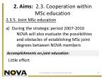 2 aims 2 3 cooperation within msc education6