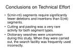 conclusions on technical effort