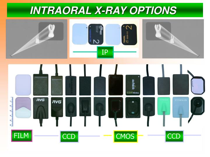 INTRAORAL X-RAY OPTIONS