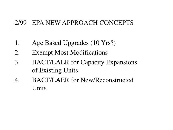 2/99EPA NEW APPROACH CONCEPTS