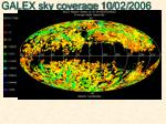 galex sky coverage 10 02 2006