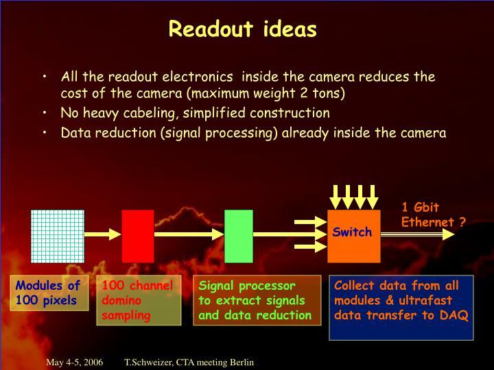Readout ideas